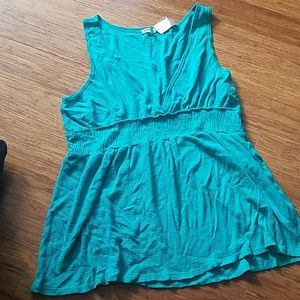 Soft teal stretchy flowy tank tunic Old Navy XL